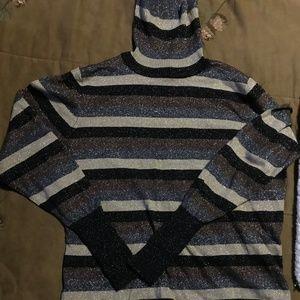 Large Worthington Sparkle Brown/Black Sweater